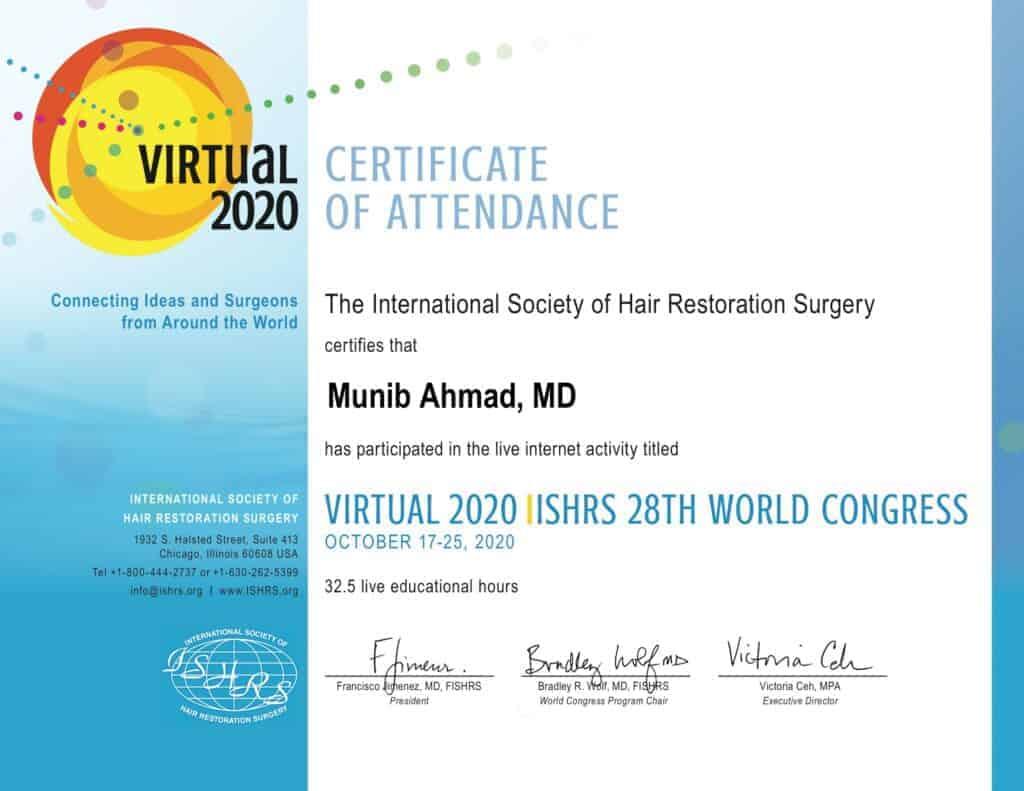 Certificaat ISHRS